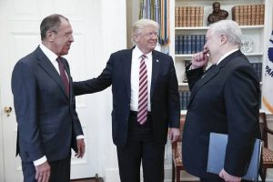 Trump Shared Intelligence Secrets With Russians in Oval Office Meeting - Photo Courtesy of Russian State media.