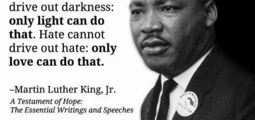 Martin Luther King Jr Light & Love Quote