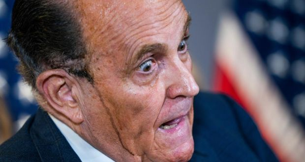 Rudy Giuliani - From America's Mayor to America's Crazy Uncle.